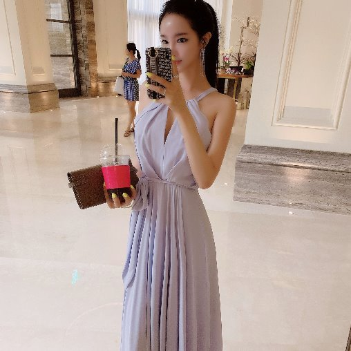 Handkerchief Hem Gown dress